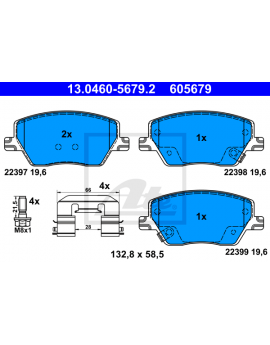 FRONT Brake Pads for Fiat...