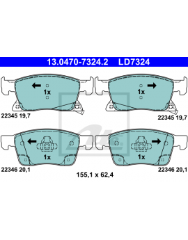 FRONT Brake Pads for Opel...