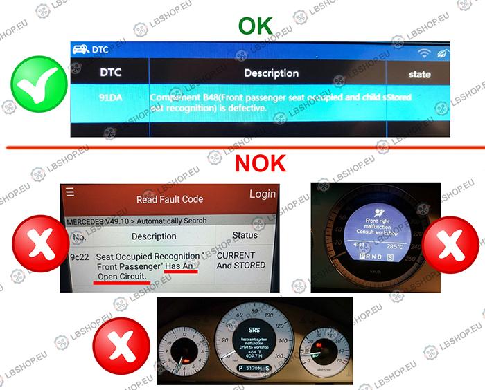 Seat Occupancy Mat Sensor Emulator SRS Bypass for Mercedes-Benz Vito Viano  W639 (2003-2014)